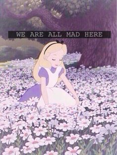 Alice in Wonderland. We are all mad here. #Disney