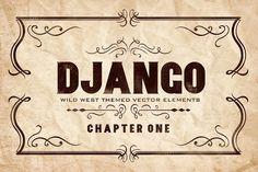 Django Wild West ( Western Badges ) by TSV Creative on @creativemarket