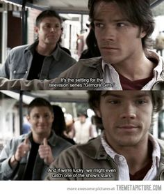 So the Supernatural writers like to have fun once and a while... Gilmore Girls humor with Jared aka Dean.
