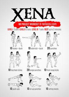 Xena Workout by Neila Rey Fitness Workouts, Yoga Fitness, Hero Workouts, Fitness Motivation, Sport Fitness, At Home Workouts, Fitness Tips, Health Fitness, Neila Rey Workout