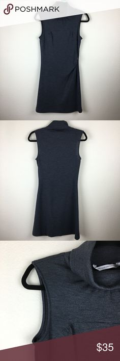 "Diane Von Furstenberg Grey Wool Turtleneck Dress Grey 100% wool Sleeveless turtleneck dress. Beautiful pre-owned condition. Size: 8. Shoulder to shoulder: 13"". Pit to pit: 16"". Total length: 35"". #1000 Diane Von Furstenberg Dresses"