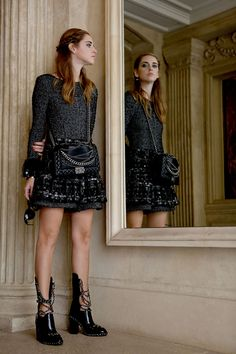 Paris fashionweek wearing Chanel - The Blonde Salad ugh those boots
