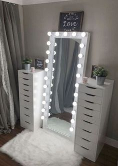 Full length beauty room mirror – You are in the right place about skincare art Here we offer you the most beautiful pictures about the skincare branding you are looking for. When you examine the Full length beauty room mirror – Bedroom Decor For Teen Girls, Cute Bedroom Ideas, Cute Room Decor, Girl Bedroom Designs, Room Ideas Bedroom, Teen Room Decor, Teen Room Designs, Cute Teen Rooms, Ideas For Bedrooms