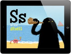 S is for Shell from The Lonely Beast ABC app, spotted in Apple's iPad outdoor ads – http://pilcrow.ie/abc
