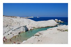 Sarakiniko, Milos, Greece. MIlos was beautiful in everyday. Breathtaking landscape and gorgeous blue waters! Nefeli Studios in Polonia was a lovely place to stay.