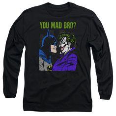 DC Comics U Mad Bro Long Sleeve Tee Shirt
