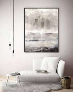Contemporary Art Original Large Painting 30 x 40 Gray Suede