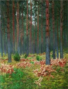 Landscape with ferns - Isaac Levitan