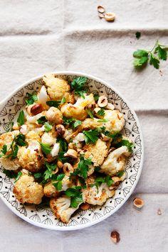 Roasted cauliflower salad Roasted Cauliflower Salad, Risotto, Potato Salad, Salads, Potatoes, Ethnic Recipes, Food, Diet, Recipes With Cauliflower