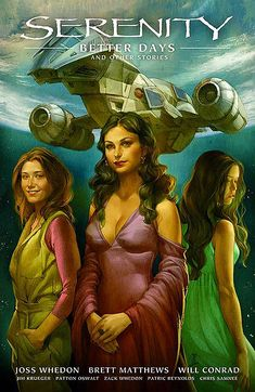 Ever since I found out Jo Chen is illustrating Serenity comic series, I've been dying to see her take on Inara. Not only did she painted a beautiful Inara, she has Kaylee on the same page! <3