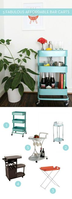 5 Affordable Bar Carts..modified for sodas?