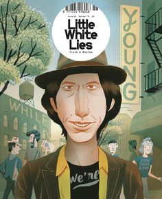 """""""While We'e Young"""" cover for Little White Lies Magazine by Bjorn Lie Chili Festival, Wrap Magazine, Magazine Art, Magazine Design, The Flowers Of Evil, While We're Young, Truth And Lies, Frances Ha, Illustrators"""