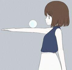 When you play with a round object and. Manga Art, Manga Anime, Anime Art, Villainous Cartoon, Animation Reference, Kawaii Anime Girl, Cute Gif, Anime Love, Cute Drawings