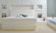 Double bedroom perspective of the luxury Villa Elise I in Mykonos Greece