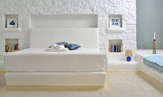 Double bedroom perspective of the luxury Villa Elise I in Mykonos Greece