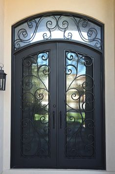 A whimsical and welcoming iron door design by Iron Doors Arizona. Head to their website to see more beautiful and creative designs. Door Design, House Design, Wrought Iron Doors, Front Entrances, Iron Work, Curb Appeal, Creative Design, Arizona, Whimsical