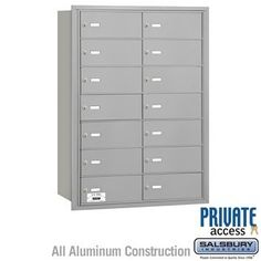 4B+ Horizontal Mailbox - 14 B Doors - Aluminum - Rear Loading - Private Access by Salsbury Industries. $693.00. 4B+ Horizontal Mailbox - 14 B Doors - Aluminum - Rear Loading - Private Access - Salsbury Industries - 820996417329. Save 10% Off!