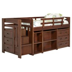 For the boys room! LOVE this to save space and make them really feel like big boys!http://www.wayfair.com/daily-sales/p/Best-Beds-for-Small-Spaces-Whitney-Twin-Storage-Loft-Bed-in-Dark-Honey~CHFC2499~E14337.html?refid=SBP.rBAZEVQ2xfxLeCKoL82hAgPWGs8BSU-bqxHP5O6F8as