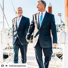 Happy anniversary to Dave and Doug! Together for over a decade, they celebrate their first wedding anniversary this weekend. Photo by…
