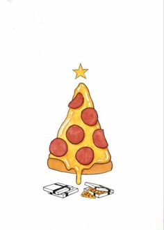 Immagine di pizza, christmas, and food