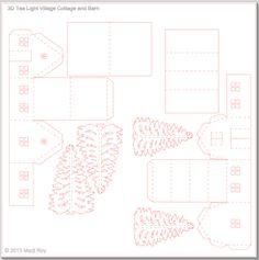 Ashbee Design Silhouette Projects: Tea Light Village • Barn