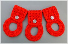 Towel Holder Set Red by DebbieCrochets on Etsy