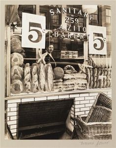 Zitos Bakery on Bleecker St 1937 the best semolina I ever had of course it is closed now. I remember the smell early in the morning on my way home from a night out. Like so many things that made this city great it is priced out and probably a crappy bank now.