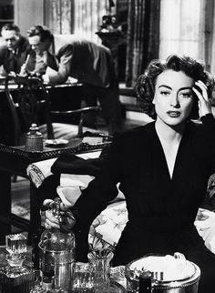 "Joan Crawford in a production still from Possessed, Possessed (""Fogueira de Paixões"", 1947). Film-Noir. Director: Curtis Bernhardt. Stars: Joan Crawford, Van Heflin, Raymond Massey. |"