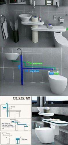 Sink water reuse
