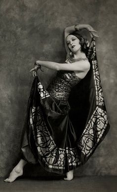 Martha Graham (who studied under Ruth St. Denis) in Flamenco costume, 1924