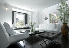 mod black and white living room, Eric Roth