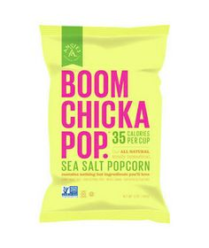 Boom Chicka Pop Sea Salt Popcorn  There are only three ingredients listed on the package—popcorn, sunflower oil, and sea salt. Light and airy, not greasy, the kernels provide fiber and protein without trans fats or preservatives.    To buy: $4 for a 5-ounce bag, at supermarkets and angieskettlecorn.com.