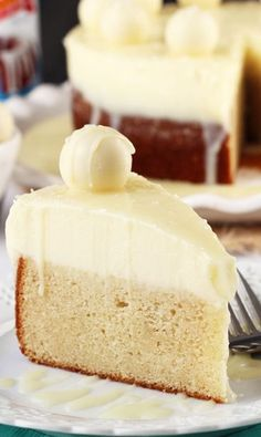 This White Chocolate Truffle Cake looks delicious – and is literally covered in white chocolate. Love this for a birthday party or the holidays.