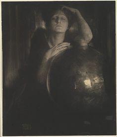 The Brass Bowl  Edward J. Steichen (American (born Luxembourg), Bivange 1879–1973 West Redding, Connecticut)  Date: 1904 Medium: Direct carbon print Dimensions: 30.4 x 25.6 cm (12 x 10 1/16 in.)