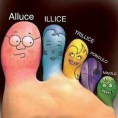 Nomi delle dita dei piedi.