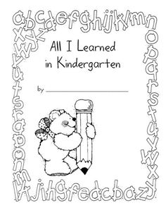 I used this theme of All I Learned in Kindergarten to tie up lots of our learning at the end of the year. One of the things I made was a book of memories, where the children had a chance to rememb…