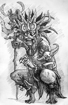 Dark Drawings, Tattoo Drawings, Aztec Warrior Tattoo, Aztec Tattoos Sleeve, Aztec Drawing, Aztec Tattoo Designs, Simpsons Drawings, Nordic Tattoo, Aztec Art
