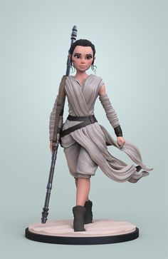 Rey, Jonas Vandeputte on ArtStation at https://www.artstation.com/artwork/dgdwW