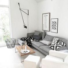 The living room of @joridkvam #söderhamn #ikeasofa #ikea