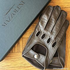 MAZZOLENI GLOVES driving gloves are simply incredible. Made in Italy using the best leather, they are fashionable, comfortable and a real symbol of the Italian style's uniqueness. We thank our satisfied customer for the snapshot. ""