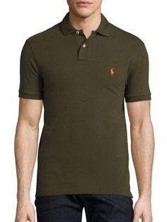 POLO RALPH LAUREN Slim-Fit Mesh Polo. #poloralphlauren #cloth #polo