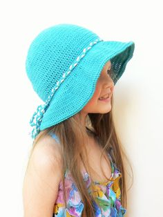 Summer Hat Crochet Sun Hat Beach Hat Wide Brim Hat Floppy by 2mice