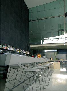 bar counter made of metal