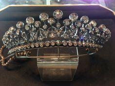 Victorian antique diamond tiara converts into a necklace. Circa 1880