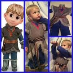 Frozen Kristoff  costume 2t to 5t child's toddler by QueenFrance, $50.00
