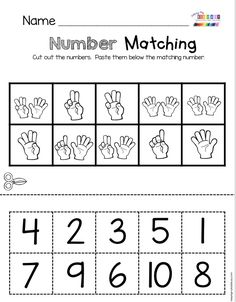 COUNTING - count and match numbers worksheets for kindergarten and first grade math centers Numbers Kindergarten, Numbers Preschool, Preschool Math, Kindergarten Worksheets, Preschool Quotes, Montessori Math, Math Literacy, Math Classroom, Literacy Stations