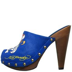 Ed Hardy shoes & Boots Portland Pump Shoe for Women - Blue Pump Shoes, Shoe Boots, Ed Hardy Designs, Only Fashion, Designer Shoes, Heeled Mules, High Heels, Pairs, Awesome Shoes