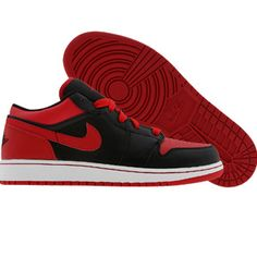 Nike Air Jordan 1 Phat Low (black / varsity red / white) 338146-061 - $89.99
