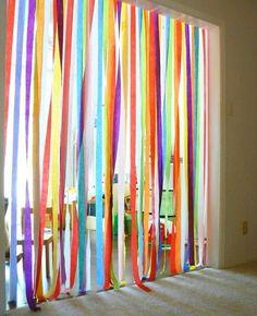 Through a Rainbow fun for a birthday party! run through a rainbow!fun for a birthday party! run through a rainbow! Theme Carnaval, Hawaian Party, Rainbow Birthday, Rainbow Theme, Rainbow Party Games, Rainbow Parties, Rainbow Wall, Circus Party, Pirate Party
