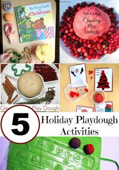 5 Holiday Playdough Activities